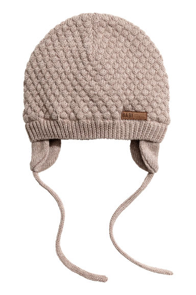 Textured-knit Hat - Light taupe - Kids | H&M CA
