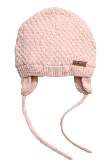 Textured-knit Hat - Light powder pink -  | H&M CA