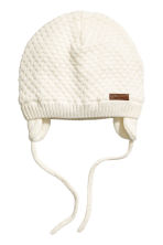 Textured-knit hat - White - Kids | H&M 1