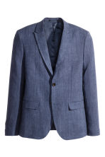 Linen jacket Slim fit - Navy blue - Men | H&M CN 2