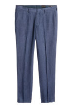 Pantaloni in lino Slim fit - Navy - UOMO | H&M IT 2