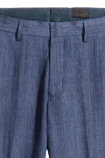 Pantaloni in lino Slim fit - Navy - UOMO | H&M IT 4
