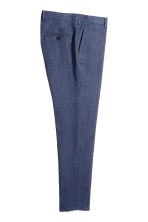 Pantaloni in lino Slim fit - Navy - UOMO | H&M IT 3