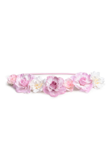 Hairband with flowers - White/Purple - Kids | H&M CN 1