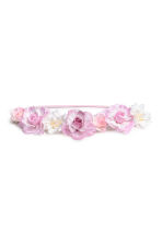 Hairband with flowers - White/Purple - Kids | H&M 1