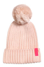 Rib-knit Hat - Powder pink - Kids | H&M CA 1