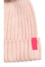 Rib-knit Hat - Powder pink - Kids | H&M CA 2