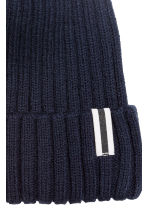 Rib-knit hat - Dark blue - Kids | H&M 2