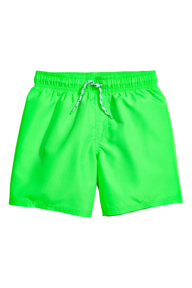 Short swim shorts - Neon green - Kids | H&M CN 1