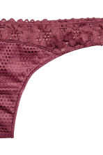 Mesh and lace thong - Plum - Ladies | H&M 2