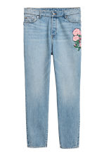 H&M+ Slim High Ankle Jeans - Light denim blue/Floral - Ladies | H&M 2