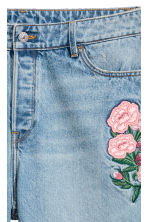H&M+ Slim High Ankle Jeans - Light denim blue/Floral - Ladies | H&M 4