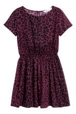 Short-sleeved dress - Burgundy/Leopard print - Kids | H&M 2