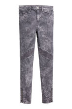 Biker trousers - Grey washed out -  | H&M CA 2