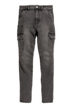 Cargo trousers - Black washed out -  | H&M CN 2