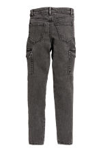 Cargo trousers - Black washed out -  | H&M CN 3
