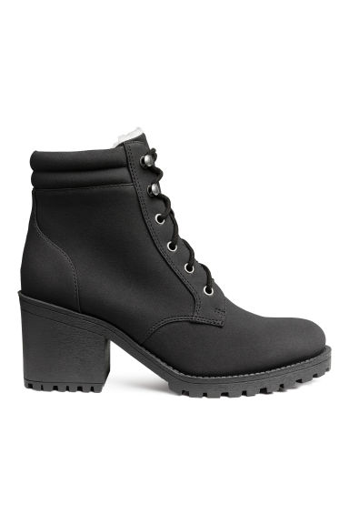 Pile-lined boots - Black - Ladies | H&M 1