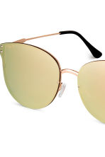 Mirrored-lens sunglasses - Gold - Ladies | H&M CN 3