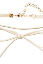 Choker with a bow - White - Ladies | H&M 3