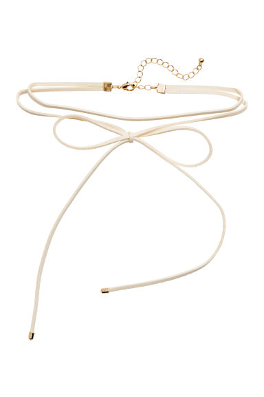 Choker with a bow - White - Ladies | H&M
