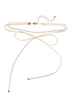 Choker with a bow - White - Ladies | H&M 1
