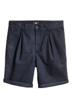 Knee-length Cotton Shorts - Dark blue - Men | H&M CA 2