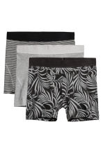 3-pack boxer shorts - Black/Leaf - Men | H&M 2