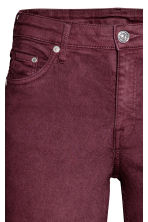 Skinny Regular Jeans - Burgundy - Ladies | H&M 3