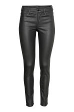 Skinny Regular Jeans - Black/Coated - Ladies | H&M IE 2