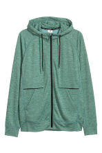 Hooded sports jacket - Light green marl - Men | H&M 2