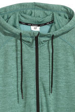 Hooded sports jacket - Light green marl - Men | H&M 3