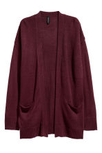 Cardigan in maglia - Bordeaux - DONNA | H&M IT 2