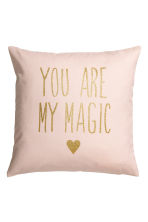 Glitter-print cushion cover - Light pink - Home All | H&M CN 1