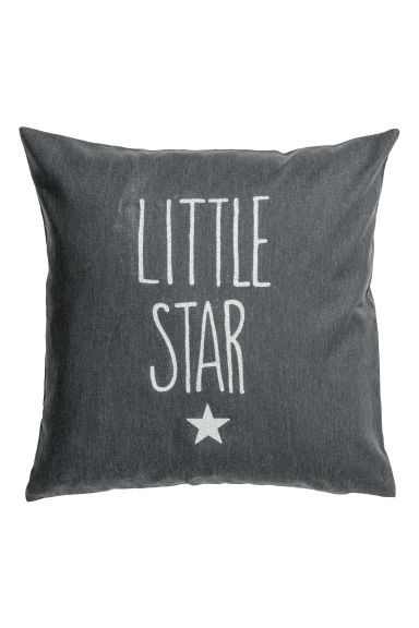 Glitter-print cushion cover - Dark grey/Silver-coloured - Home All | H&M GB 1