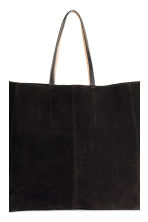 Suede shopper - Black - Ladies | H&M 4