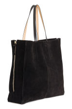 Suede shopper - Black - Ladies | H&M 3