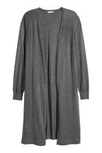 Fine-knit cardigan - Dark grey marl - Ladies | H&M 2