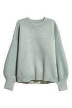 Fine-knit jumper - Dusky green/Glittery - Ladies | H&M 2