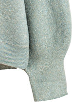 Fine-knit jumper - Dusky green/Glittery - Ladies | H&M IE 3