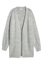 Knitted wool-blend cardigan - Light grey -  | H&M CN 2