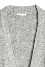 Knitted wool-blend cardigan - Light grey -  | H&M CN 3