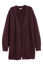 Knitted wool-blend cardigan - Plum - Ladies | H&M CN 2