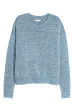Fine-knit jumper - Light blue -  | H&M IE 2