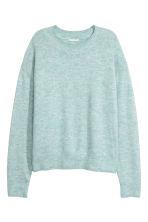Fine-knit jumper - Light blue - Ladies | H&M CN 1
