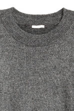 Fine-knit jumper - Grey/Glitter - Ladies | H&M 3