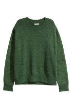 Fine-knit jumper - Green - Ladies | H&M CN 1