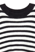 Fine-knit jumper - Dark blue/White striped - Ladies | H&M IE 3