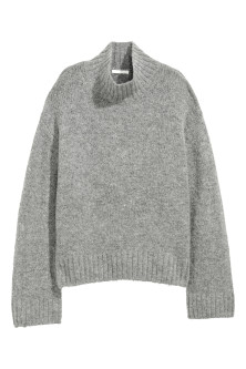Knitted wool-blend jumper