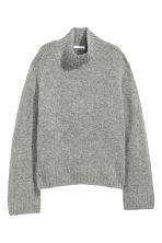 Knitted wool-blend jumper - Light grey - Ladies | H&M CN 2