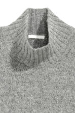 Knitted wool-blend jumper - Light grey - Ladies | H&M CN 3